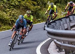 10.07.2019, Radstadt, AUT, Ö-Tour, Österreich Radrundfahrt, 4. Etappe, von Radstadt nach Fuscher Törl (103,5 km), im Bild Spitzengruppe Alexis Guerin (Delko Marseille Provence, FRA) // during 4th stage from Radstadt to Fuscher Törl (103,5 km) of the 2019 Tour of Austria. Radstadt, Austria on 2019/07/10. EXPA Pictures © 2019, PhotoCredit: EXPA/ JFK