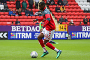 Charlton Athletic forward Stephy Mavididi (16) warming up prior to the EFL Sky Bet League 1 match between Charlton Athletic and Blackburn Rovers at The Valley, London, England on 28 April 2018. Picture by Toyin Oshodi.