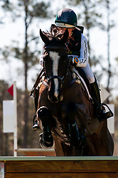 March 22, 2019 - Raeford, North Carolina, US - March 23, 2019 - Raeford, N.C., USA - MARLEY STONE-BOURKE of the United States riding LVS DASSETT CHARISMA clears the Tobacco Barn complex in the cross country CCI-3S division at the sixth annual Cloud 11-Gavilan North LLC Carolina International CCI and Horse Trial, at Carolina Horse Park. The Carolina International CCI and Horse Trial is one of North AmericaÃ•s premier eventing competitions for national and international eventing combinations, hosting International competition at the CCI2*-S through CCI4*-S levels and National levels of Training through Advanced. (Credit Image: © Timothy L. Hale/ZUMA Wire)