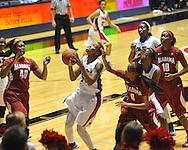 Ole Miss' Tia Faleru (32) vs. Alabama in NCAA women's basketball action in Oxford, Miss. on Sunday, January 13, 2013.  Alabama won 83-75.