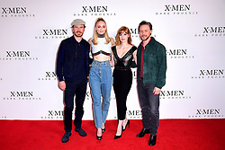 Michael Fassbender (left to right), Sophie Turner, Jessica Chastain and James McAvoy attending the X-Men: Dark Phoenix photocall held at Picturehouse Central, London.