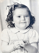 happy toddler girl portrait ca 1950s