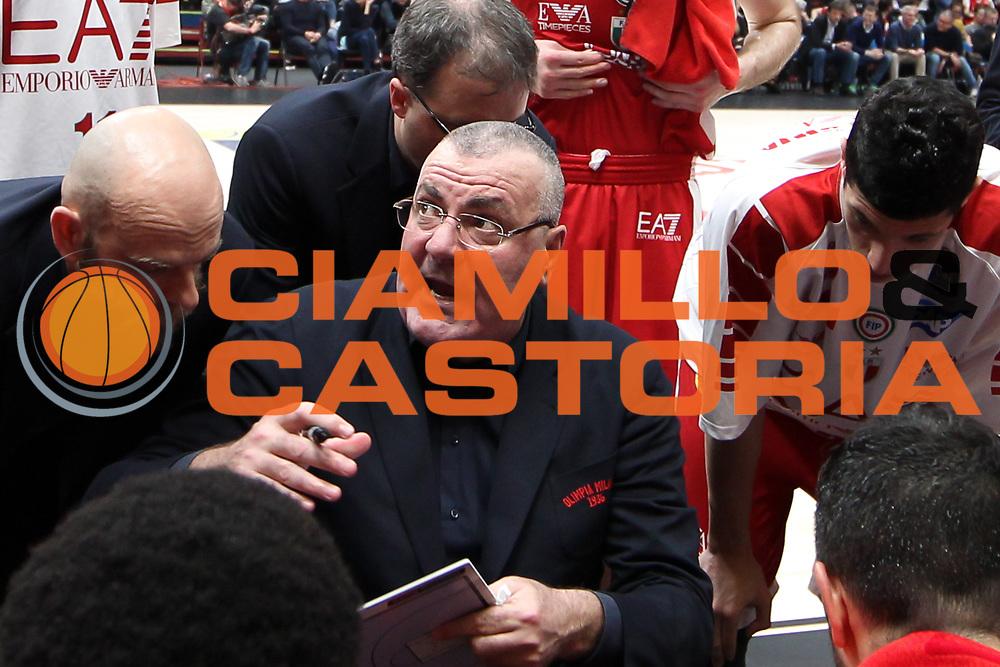 Time out EA7 Emporio Armani, EA7 Emporio Armani Milano vs Capo d'Orlando LBA Serie A Playoff gara 1 stagione 2016/2017 Mediolanum Forum Assago, Milano 12 maggio 2017