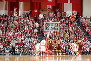 BLOOMINGTON, IN - JANUARY 12: Indiana Hoosiers fans try to distract a free throw attempt by Maverick Ahanmisi #13 of the Minnesota Golden Gophers at Assembly Hall on January 12, 2012 in Bloomington, Indiana. Minnesota defeated Indiana 77-74. (Photo by Joe Robbins)