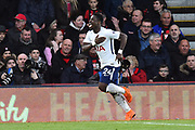 Goal - Serge Aurier (24) of Tottenham Hotspur celebrates scoring a goal to make the score 1-4 during the Premier League match between Bournemouth and Tottenham Hotspur at the Vitality Stadium, Bournemouth, England on 11 March 2018. Picture by Graham Hunt.