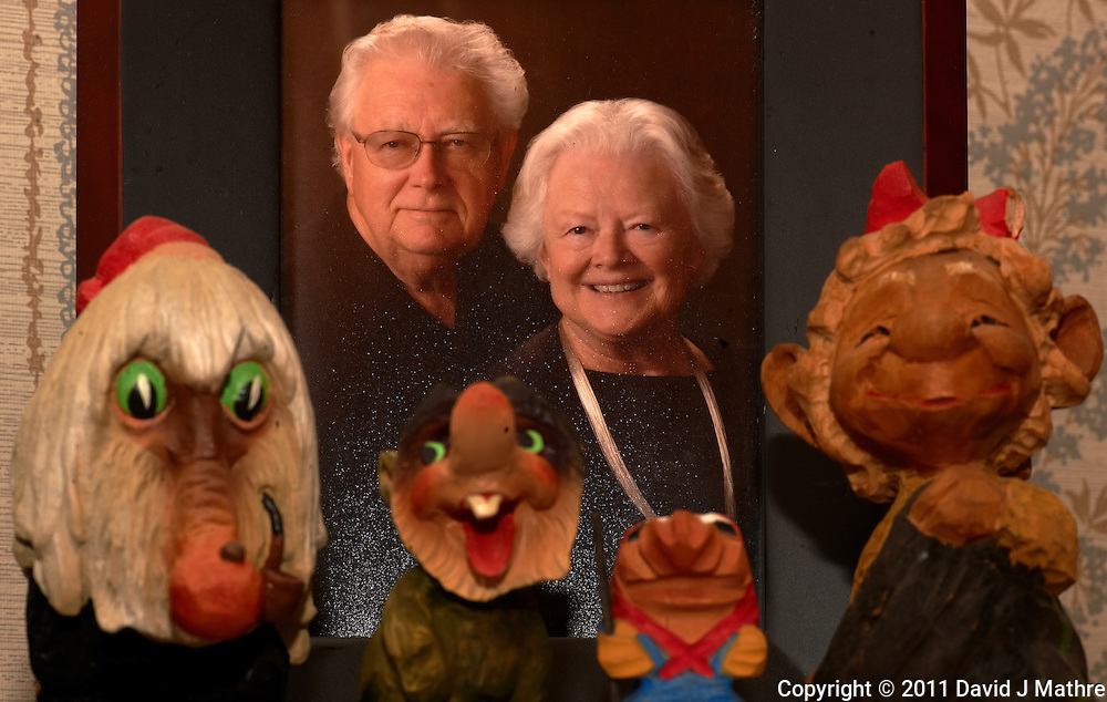 Family Portrait. Father Mother + Trolls. Image taken with a Nikon D3x and 105 mm f/2.8 VR macro lens (ISO 100, 105 mm, f/16, 3 sec) and SB-900 flash. Raw image processed with Capture One Pro 6 and Photoshop CS5. .