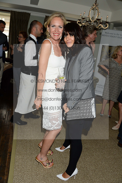Left to right, IMOGEN EDWARDS-JONES and CLAUDIA WINKLEMAN at a party to celebrate the publication of Restaurant Babylon by Imogen Edwards-Jones held at Little House, 12a Curzon Street, London on 2nd July 2013.