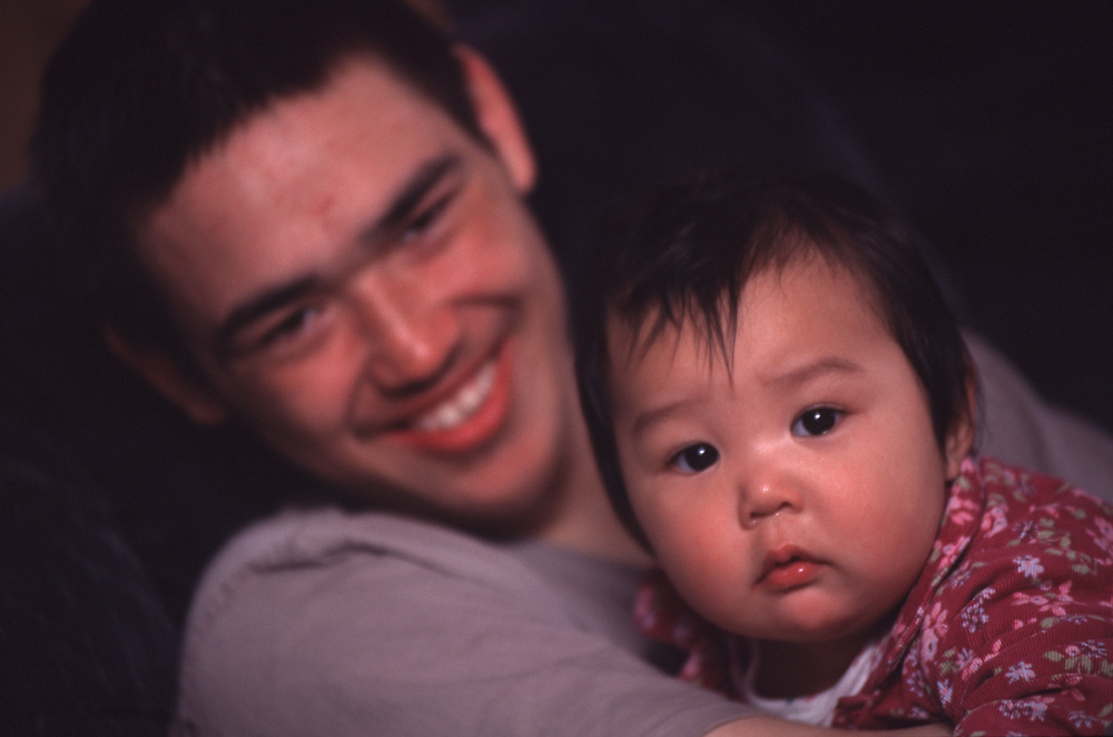 Charles E. Hopson II with his niece Emeryn.<br /> <br /> May 16, 18:10