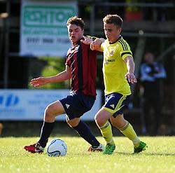 Bristol City's Joe Bryan jostles for the ball - Photo mandatory by-line: Dougie Allward/JMP - Tel: Mobile: 07966 386802 03/07/2013 - SPORT - FOOTBALL - Bristol -  Ashton and Backwell United V Bristol City - Pre Season Friendly