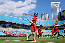 CHARLOTTE, USA - Saturday, July 21, 2018: Liverpool's James Milner during a training session at the Bank of America Stadium ahead of a preseason International Champions Cup match between Borussia Dortmund and Liverpool FC. (Pic by David Rawcliffe/Propaganda)