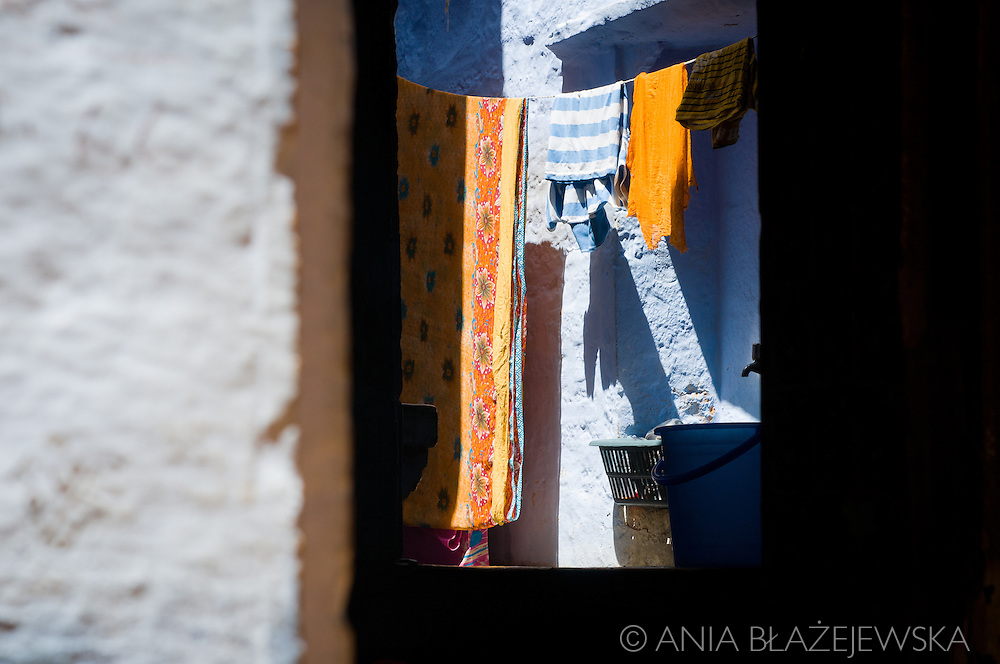 India, Jaisalmer. Laundry in one of the streets in the Jaisalmer Fort.