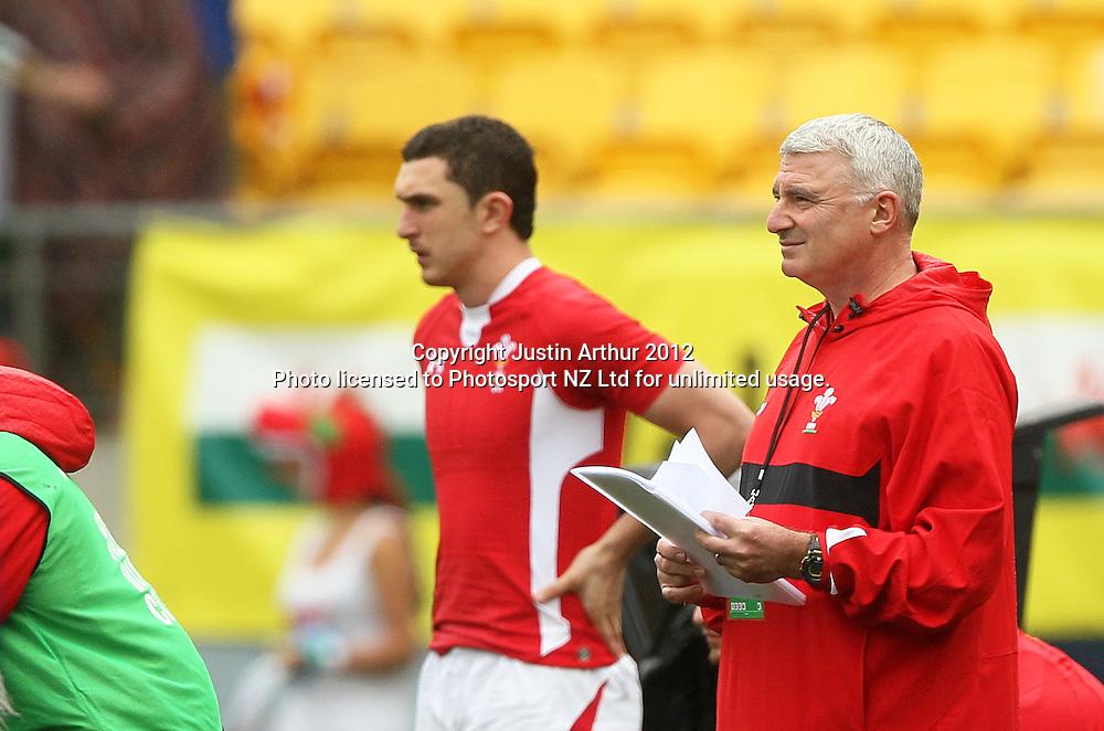 Wales team manager Dai Jenks. Hertz Wellington Sevens - Day two at Westpac Stadium, Wellington, New Zealand on Saturday, 4 February 2012. Photo: Justin Arthur / photosport.co.nz