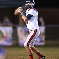 Adam Robison | BUY AT PHOTOS.DJOURNAL.COM<br /> Nettleton quarterback Coleton Ausbern looks down field for an open receiver in the first quarter against Booneville Thursday night.