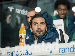 October 25, 2017 - Turin, Piemonte/Torino, Italy - Gianluigi Buffon (Juventus FC) durint the footbal Match. Serie A: Juventus FC vs S.P.A.L. 2013 at Allianz Stadium. Juventus wins 4-1. Turin, 25th october 2017 (Credit Image: © Alberto Gandolfo/Pacific Press via ZUMA Wire)
