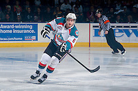 KELOWNA, CANADA - APRIL 19:  Mitchell Wheaton #6 of the Kelowna Rockets makes a pass against the Portland Winterhawkson April 18, 2014 during Game 2 of the third round of WHL Playoffs at Prospera Place in Kelowna, British Columbia, Canada.   (Photo by Marissa Baecker/Shoot the Breeze)  *** Local Caption *** Mitchell Wheaton;
