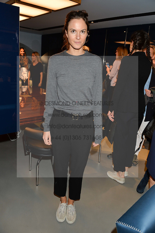 FRAN HICKMAN at the launch of the new Frette store at 43 South Audley Street, London on 6th October 2016.