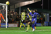 Ade Azeez of AFC Wimbledon during the Sky Bet League 2 match between AFC Wimbledon and Dagenham and Redbridge at the Cherry Red Records Stadium, Kingston, England on 24 November 2015. Photo by Stuart Butcher.