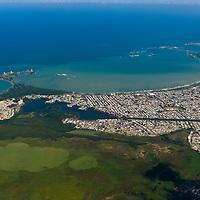 Aerial view of San Juan, Puerto Rico