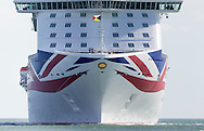 P&amp;O's brand new cruise ship, Britannia, steams into Southampton for the first time. At 330 metres long she is the largest ship in P&amp;O's fleet and the largest ever built for the british cruise market. She will be named by Her Majesty the Queen in the city on Tuesday. <br /> Picture date Friday 6th March, 2015.<br /> Picture by Christopher Ison. Contact +447544 044177 chris@christopherison.com