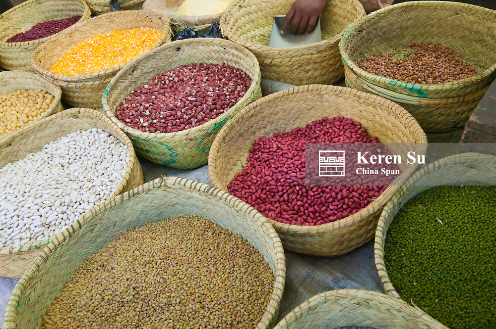 Local market selling spices, Antananarivo, Madagascar