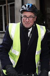© Licensed to London News Pictures. 17/12/2018. London, UK. Bernard Jenkin is seen leaving Shepherd's Restaurant near Parliament. Later Prime Minister Theresa May will address Parliament on last week's EU Summit. Photo credit: Peter Macdiarmid/LNP