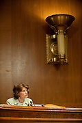 """May 6,2010 - Washington, District of Columbia USA - Alaska Senator Lisa Murkowski  questions Attorney General Eric Holder about how Times Square bombing suspect Faisal Shahzad was able to board a plane while being on the no-fly list and setting off all of the """"red flags."""" Holder was testifing before a Senate Appropriations Committee hearing on the proposed budget estimates for FY2011 for the Justice Department..(Credit Image: © Pete Marovich/ZUMA Press)"""