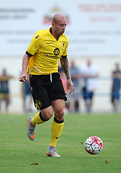 Aston Villa's Alan Hutton  - Photo mandatory by-line: Joe Meredith/JMP - Mobile: 07966 386802 - 17/07/2015 - SPORT - Football - Albufeira - Estadio Da Nora - Pre-Season Friendly