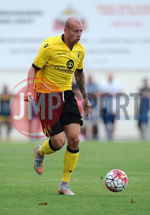 Aston Villa's Alan Hutton  - Photo mandatory by-line: Joe Meredith/JMP - Mobile: 07966 386802 - 17/07/2015 - SPORT - Football - Albufeira - Estadio Da Nora - Pre-Season Friendly
