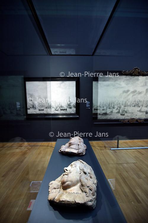Nederland, Amsterdam , 25 mars 2013..Rijksmuseum..La collection depuis 1500..La tète d'Admiraal de Ruyter.Foto:Jean-Pierre Jans
