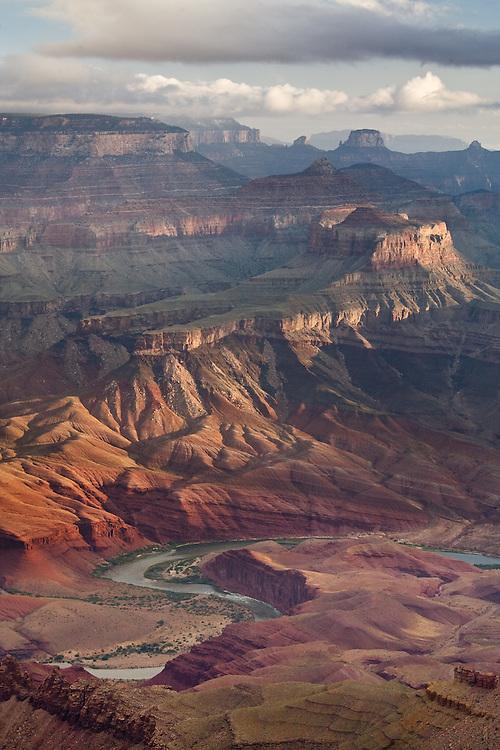 The Colorado River and Unkar Delta viewed from Lipan Point. Grand Canyon National Park, Arizona.