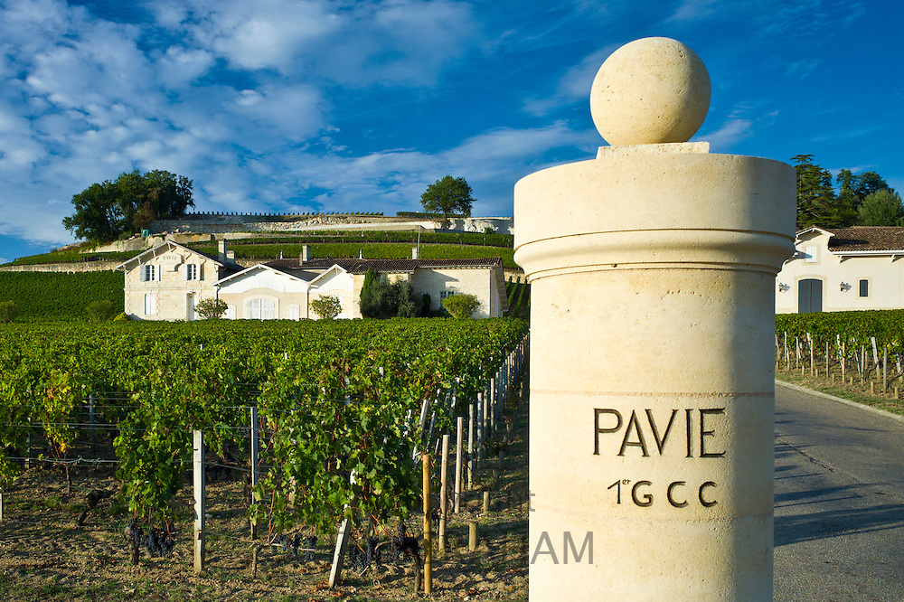 Chateau Pavie at St Emilion in the Bordeaux wine region of France