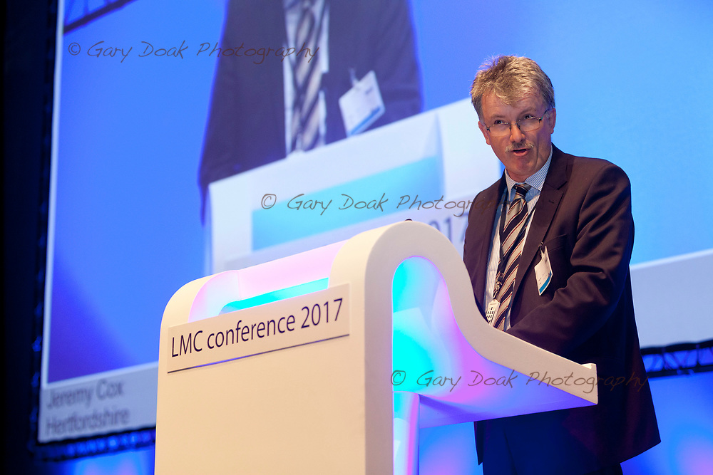 Jeremy Cox<br /> BMA LMC's Conference<br /> EICC, Edinburgh<br /> <br /> 18th May 2017<br /> <br /> Picture by Gary Doak