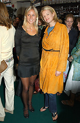 Left to right, sisters OLYMPIA SCARRY and FIONA SCARRY at a party to celebrate the launch of the new Matthew Williamson fragrance held at Harvey Nichols, Knightsbridge, London on 14th June 2005.<br />