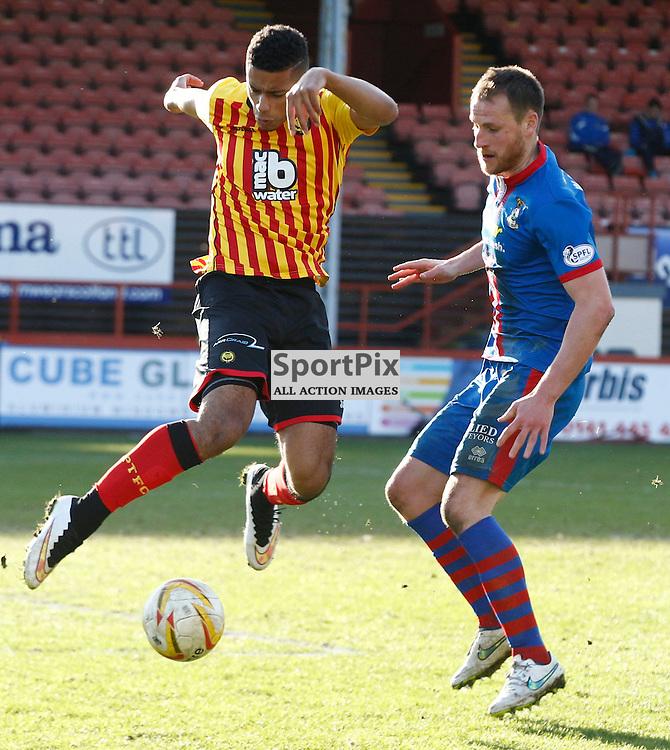 PARTICK THISTLE v INVERNESS C.T....Lyle Taylor in action ...(c) STEPHEN LAWSON | SportPix.org.uk