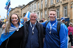 All Under One Banner March For Independence, Glasgow, Saturday 5th May 2018<br /> <br /> Thousands of people joined a march in support of Scottish Independence today in Glasgow.<br /> <br /> There were flags of many countries represented.<br /> <br /> Three generations of the same family joined the march<br /> <br /> <br /> Alex Todd | EEm