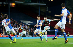 Ashley Barnes of Burnley fires a shot at goal  - Mandatory by-line: Matt McNulty/JMP - 23/08/2017 - FOOTBALL - Ewood Park - Blackburn, England - Blackburn Rovers v Burnley - Carabao Cup - Second Round