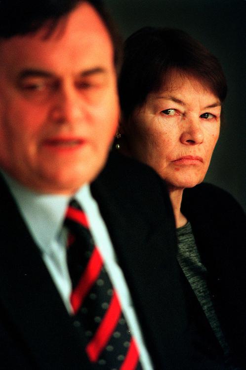 Glenda Jackson MP Transport Minister April 1999 With Deputy Prime Minister John Prescott