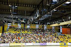 Spectators during handball match between RK Gorenje Velenje and RK Celje Pivovarna Lasko in Final match of 1st NLB League - Slovenian Championship 2013/14 on May 23, 2014 in Rdeca dvorana, Velenje, Slovenia. Photo by Vid Ponikvar / Sportida