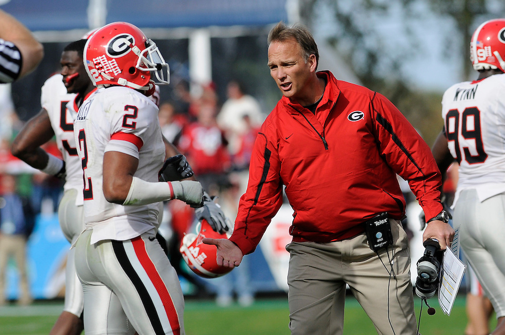 January 1, 2009: Head coach Mark Richt of the Georgia Bulldogs in action during the NCAA football game between the Michigan State Spartans and the Georgia Bulldogs in the Capital One Bowl. The Bulldogs defeated the Spartans 24-12.