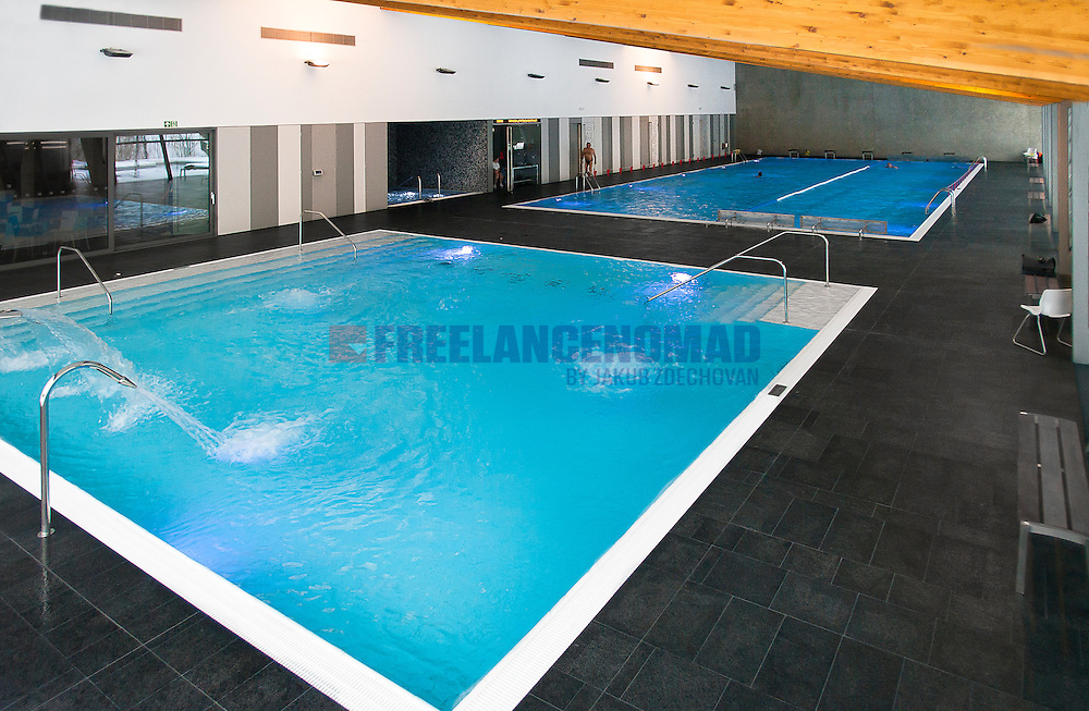 Polished and brushed Granite G684 Black rain basalt interior swimming pool flagstone project