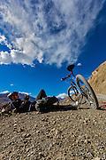 Mountain biking in the Spiti valley of Himachal Pradesh, India