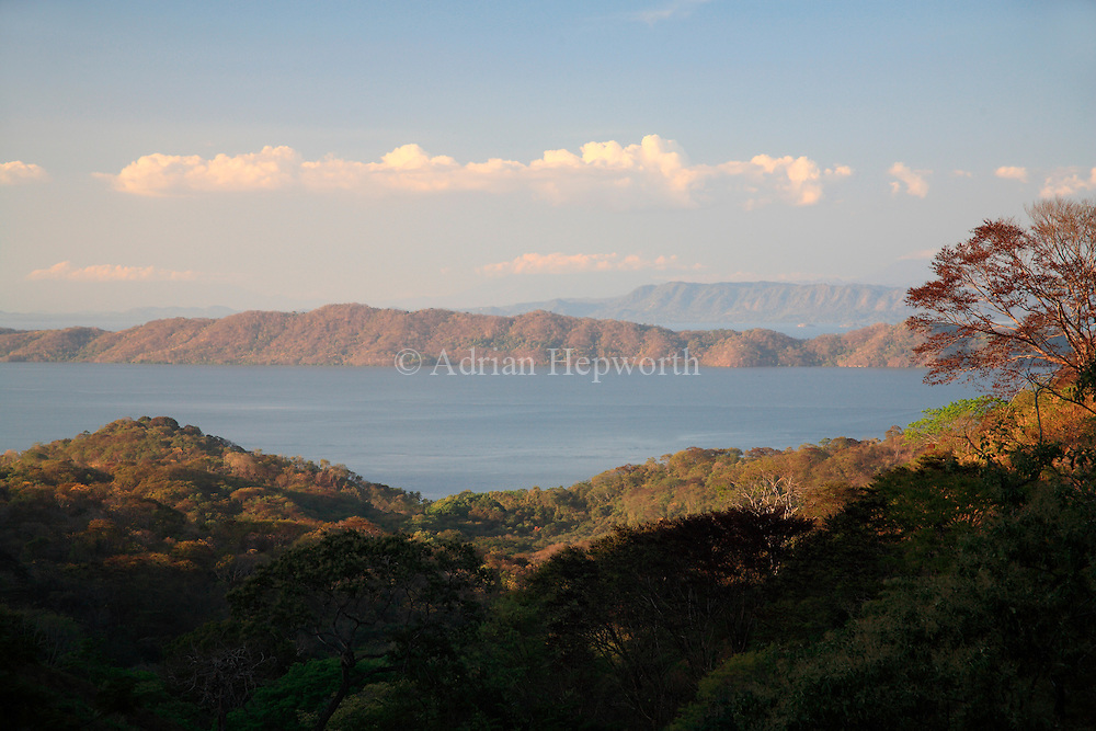 Gulf of Nicoya and mainland shot from near Playa Naranjo, Costa Rica. <br />