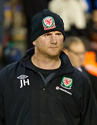 BRUSSELS, BELGIUM - Tuesday, October 15, 2013: Wales' assistant coach John Hartson during the 2014 FIFA World Cup Brazil Qualifying Group A match against Belgium at the Koning Boudewijnstadion. (Pic by David Rawcliffe/Propaganda)