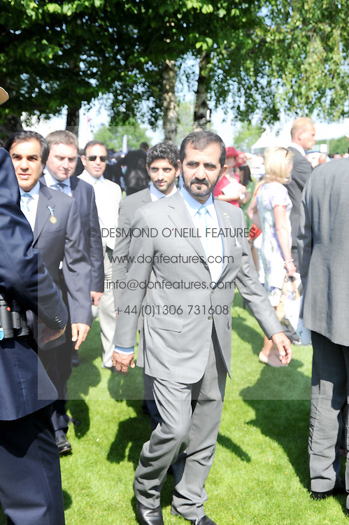 Sheikh Mohammed bin Khalifa Al-Maktoum at the Investec Ladies Day at Epsom Racecourse, Surrey on 4th June 2010.