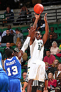 Dec 07, 2011; Birmingham, AL, USA; UAB Blazers guard Jekore Tyler (10) shoots over Middle Tennessee Blue Raiders Bruca Massey (13) at  Bartow Arena. The Blazers defeated the Blue Raiders 66-56 Mandatory Credit: Marvin Gentry-