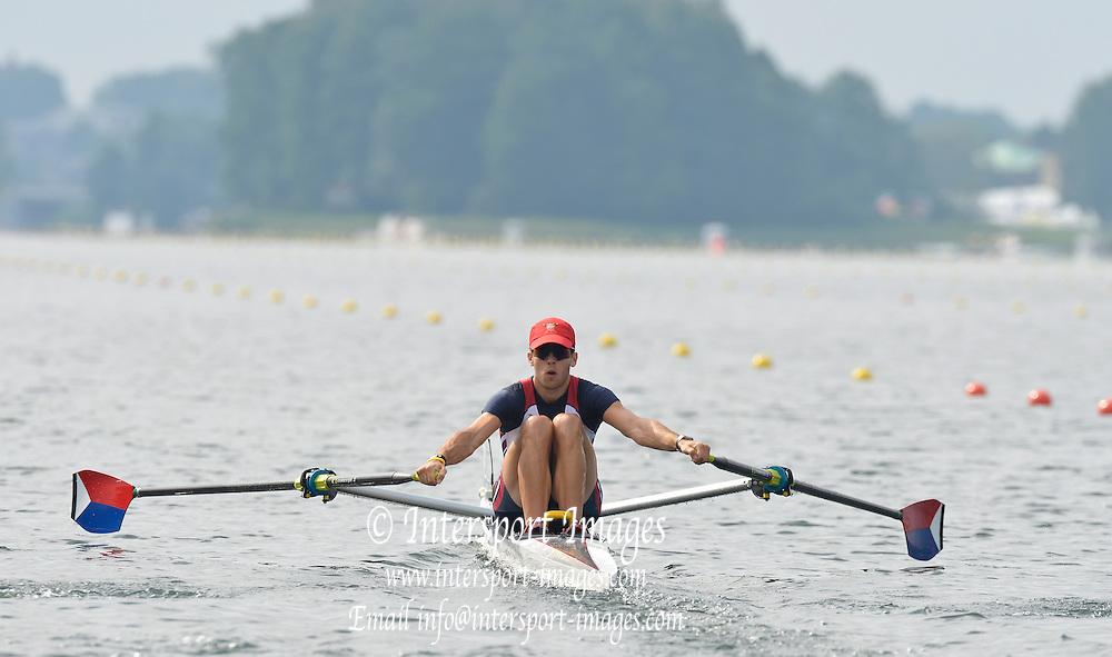 Trackai. LITHUANIA. 2012 FISA U23 Rowing Championships, Lake Galve.   10:06:29 Thursday 12/07/2012 [Mandatory credit: Peter Spurrier/Intersport Images]..Rowing, U23, 2012.