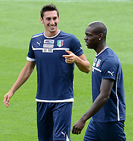 "Davide ASTORI, Mario BALOTELLI (Italia)<br /> Cracovia 07/06/2012  ""Stadio Municipale di Cracovia""<br /> Allenamento nazionale italia presso lo Stadio Municipale di Cracovia<br /> Football Calcio Euro 2012<br /> Foto Insidefoto Alessandro Sabattini<br /> <br /> <br /> <br /> Fiorentina captain Davide Astori dies suddenly aged 31 . <br /> Astori was staying a hotel with his team-mates ahead of their game on Sunday away at Udinese when he passed away. <br /> Foto Insidefoto"