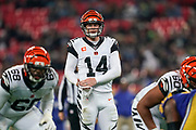 Cincinnati Bengals Quarterback Andy Dalton (14) during the International Series match between Los Angeles Rams and Cincinnati Bengals at Wembley Stadium, London, England on 27 October 2019.