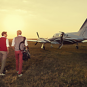 Commercial photoshoot taken at Modlin Airport near Warsaw Poland by Karol Smoderek for SmartJet - air taxi company.