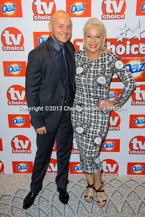 TV Choice Awards 2013 - London.<br /> Lincoln Townley and Denise Welch arriving at the TV Choice Awards 2013, The Dorchester Hotel, London, United Kingdom. Monday, 9th September 2013. Picture by Chris  Joseph / i-Images